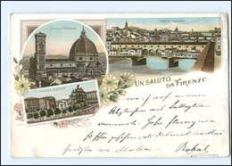 U6327/ Italien Firenze Ca.1900 Litho AK - Italy