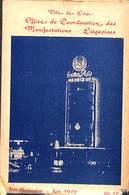 Petit Cahier Manifestations Liégeoises Juin 1949 (Spectacles, Avis Officiels, Expositions...) (fermé 10.5 X 15.5 Cm) - Dépliants Touristiques