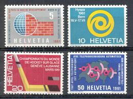 LIQUIDATION TOTALE : 1961 - Zu 375/78 - Mi N° 727/730 - Yv N° 673/76 - ** (MNH) Et Oblitérés (o) + 2 Documents - Suisse