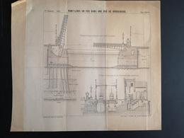ANNALES PONTS Et CHAUSSEES (Russie) - Plan Du Pont-Levis En Fer Dans Une Rue De Konigsberg - Imp L.Courtier 1898 (CLF50) - Travaux Publics