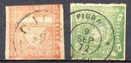 Pérou - 1862/1866 - Yt 8 Et 13 - Oblitérés - Peru