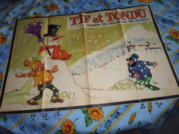 Tif Et Tondu Poster-supplement Au Journal De Spirou N° 1654 Du 25/12/1969 - Spirou Magazine