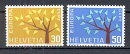 LIQUIDATION TOTALE : 1962 - Zu 389/390 - Mi N° 756/757 - Yv N° 698/99 - ** (MNH) Et Oblitérés (o) + 3 Documents - Suisse