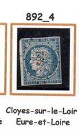 France : Petit Chiffre N° 892 : Cloyes Sur Le Loir  ( Eure Et Loir) Indice 4 - Marcophilie (Timbres Détachés)