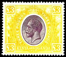 Kenya & Uganda, 1925, £3 Yellow  ,SG .97 , MNH ** - Kenya, Uganda & Tanganyika