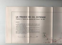 La France De Ch. Estienne Chemins De France - Cartes