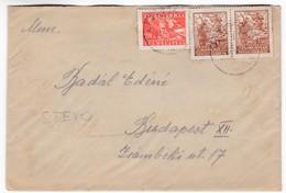 M484 Yugoslavia Lettre Letter 1947 JEZERSKO To Budapest - 1945-1992 Repubblica Socialista Federale Di Jugoslavia