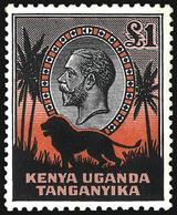 Kenya & Uganda, 1935, £1 Black & Orange ,SG .123 , MNH ** - Kenya, Uganda & Tanganyika