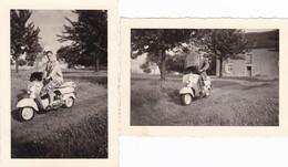 Vieille Moto Vespa ? Photo 9 X 6 - Other