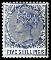 Lagos , 1886, 5/ Blue ,  SG .28 , MNH ** - Laos