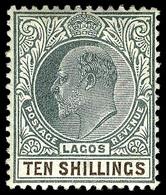 Lagos , 1904, 10/  King Edward VII, SG.53 , MNH ** - Laos