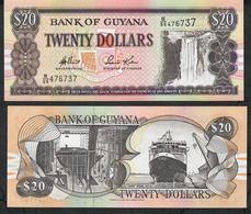 "GUYANA P30d 20 DOLLARS 1996 #B/55 Signature 13 .Title :""GOVERNOR (ag) "" UNC. - Guyana"