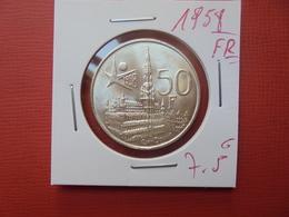 """Baudouin 1er. 50 Francs """"EXPO 1958"""" FR. ARGENT. SUPERBE+++ - 1951-1993: Baudouin I"""