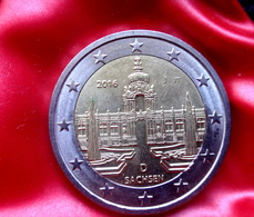 Germany 2 Euro 2016 Saxony Dresden   -  J -  Coin  CIRCULATED - Duitsland