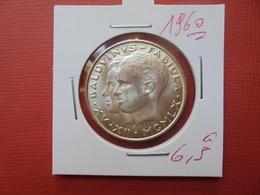 """Baudouin 1er. 50 Francs """"MARIAGE"""" 1960. ARGENT. SUP+++ - 1951-1993: Baudouin I"""