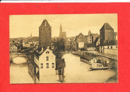 67 STRASBOURG Cpa Animée DOUBLE Panorama * Format Plié14 Cm X 9 Cm - Strasbourg