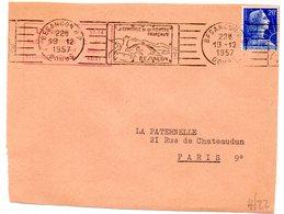 DOUBS - Dépt N° 25 = BESANÇON RP 1959  = FLAMME RBV Illustrée 'CAPITALE De La MONTRE / Française ' - Marcophilie (Lettres)