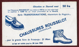 """JOINVILLE  (52) :  """" CHAUSSURES ROUSSELOT """"  1950 - Shoes"""