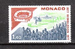 Monaco   - 1977.  Torneo Di Wimbledon. Wimbledon Tennis Tournament. MNH - Tennis