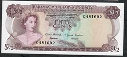 BAHAMAS P26 1/2 DOLLAR 1968 Prefix C UNC. - Bahamas