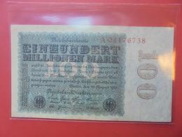 Reichsbanknote 100 MARK 1923 - [ 3] 1918-1933 : Repubblica  Di Weimar