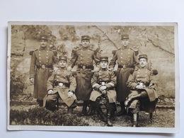 Foto Photo AK Militair Soldaten Francais Regiment 10 Photo Cartes Georges Huss Saint Die Saint-die Vosges Vogesen - Uniforms