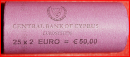 + GREECE: CYPRUS ★ ROLL 2 EURO 2018 = 25 COINS! LOW START ★ NO RESERVE! - Rolls