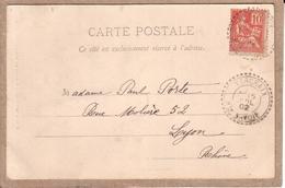 HAUTE SAVOIE , RHÔNE - CARTE DE VERCHAIX POUR LYON , CAD TYPE B2 - 1902 - 1877-1920: Semi-moderne Periode