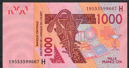 W.A.S. NIGER  P615Hs  1000 FRANCS (20)19 2019 UNC. - West African States