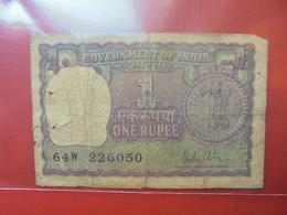 INDE 1 RUPEE 1966-80 CIRCULER - Inde