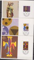 Liechtenstein 1981 St. Tgeodul, Handicaped People, Scouting 3 Maxicards (42412) - Maximumkaarten