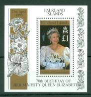Falkland Is: 1996   70th Birthday Of QE II   M/S   MNH - Falkland Islands