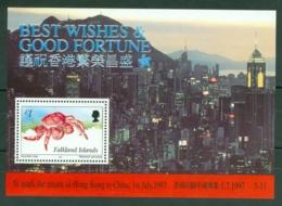 Falkland Is: 1997   Return Of Hong Kong To China  M/S   MNH - Falkland Islands