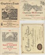 Etiquette De Vin - 1976 - SAINT EMILION  -  LOT A  - 4 Pc - Etichette