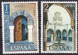 Sahara, 1974, 346/47, Jugend: Moscheen. MNH ** - Sahara Spagnolo