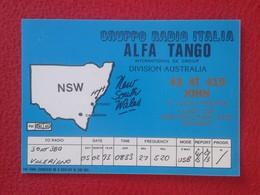 POSTAL TYPE POST CARD QSL RADIOAFICIONADOS RADIO AMATEUR AUSTRALIA NEW SOUTH WALES NUEVA GALES DEL SUR SIDNEY CANBERRA - Sin Clasificación