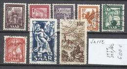 519-SELLOS DE ALEMANIA SAAR,TERRITORIO FRANCO ALEMAN SERIE 1949 Nº255/62. - 1947-56 Ocupación Aliada