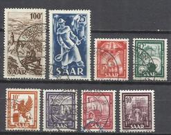 520-SELLOS DE ALEMANIA SAAR,TERRITORIO FRANCO ALEMAN SERIE 1949 Nº255/62. - 1947-56 Ocupación Aliada