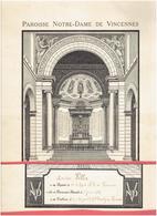PAROISSE NOTRE DAME DE VINCENNES JUIN 1935 DIPLOME DE COMMUNION DE LOUISE VILLA ET PHOTOGRAPHIE P. CARTIER VAL DE MARNE - Religion & Esotérisme