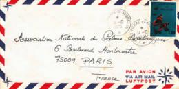 SAINT-PIERRE-ET-MIQUELON - 1975 - Lettre Par Avion Pour Paris Papillon - St.Pierre Et Miquelon