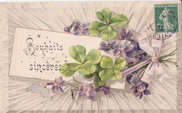 CP -  SOUHAITS SINCERES - Fleurs