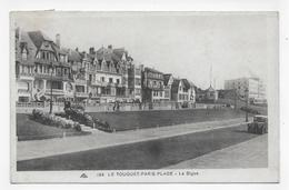 (RECTO / VERSO) LE TOUQUET PARIS PLAGE EN 1936 - N° 254 - LA DIGUE AVEC VIEILLES VOITURES -  CPA VOYAGEE - Le Touquet