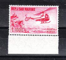 San Marino - 1961.  Elicottero. Helicopter. MNH, Fresh, Raro - Blocchi & Foglietti