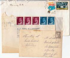 ESPAGNE - Lot De 2 Lettres + Une Carte Postale - Espagne