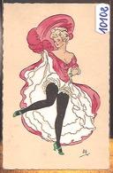 10102  ILLUSTRATEUR A.H.  AK PC CPA  Ets Artistiques Parisiens. N° 4900 - Illustrateur FRENCH CANCAN - Illustratori & Fotografie