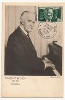 FRANCE - Carte Maximum N° 890 - Vincent D'Indy - Paris R.P. 15 Mai 1951 - 1950-59