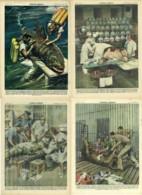"""D 91 - NON SONO FIGURINE - VETERINARI - LOTTO DI 4 COPERTINE DE """"LA DOMENICA DEL CORRIERE"""" - Libri, Riviste, Fumetti"""