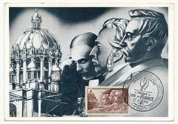 FRANCE - Carte Maximum N° 898, Docteurs Picqué, Roussin Et Villemin - Centenaire Val De Grace 17/6/1951 - 1950-59