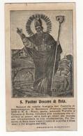 Santino Antico San Paolino Vescovo Di Nola Da Sutera - Caltanissetta - Religione & Esoterismo