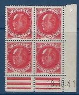 """FR Coins Datés YT 506 """" Pétain 30c. Rouge """" Neuf** Du 18.10.41 - 1940-1949"""
